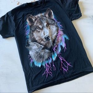 Vintage wolf  T-shirt wilderness